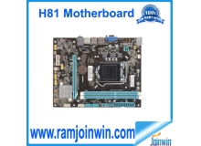 Fully tested ddr3 memory type h81 motherboard lga1150