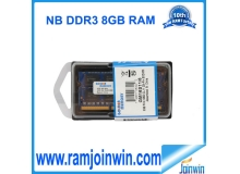 Factory direct selling ddr3 8gb 1600mhz  laptop ram  ett chips made in taiwan